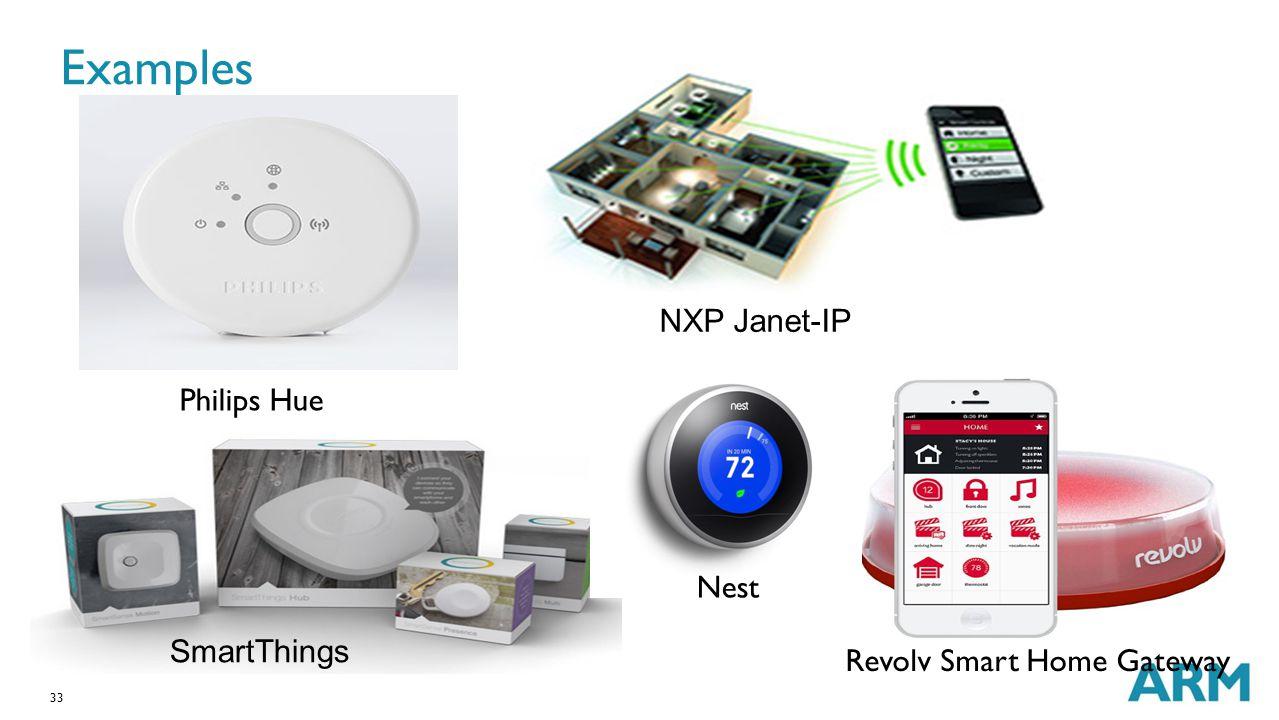 33 Examples Philips Hue NXP Janet-IP Revolv Smart Home Gateway SmartThings Nest