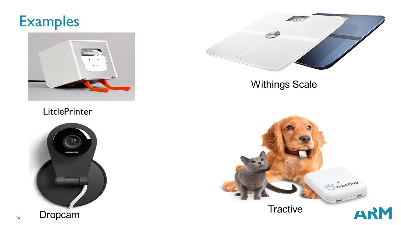 36 Examples LittlePrinter Withings Scale Tractive Dropcam
