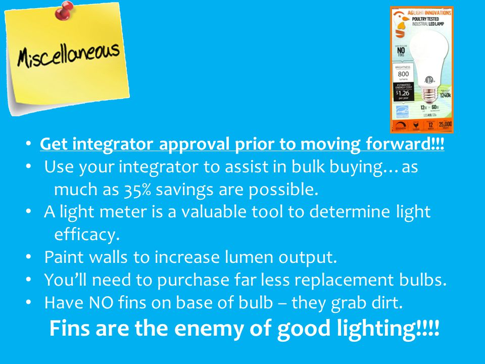 Get integrator approval prior to moving forward!!.