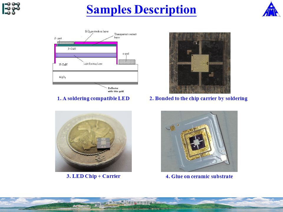 Samples Description 1. A soldering compatible LED 3.