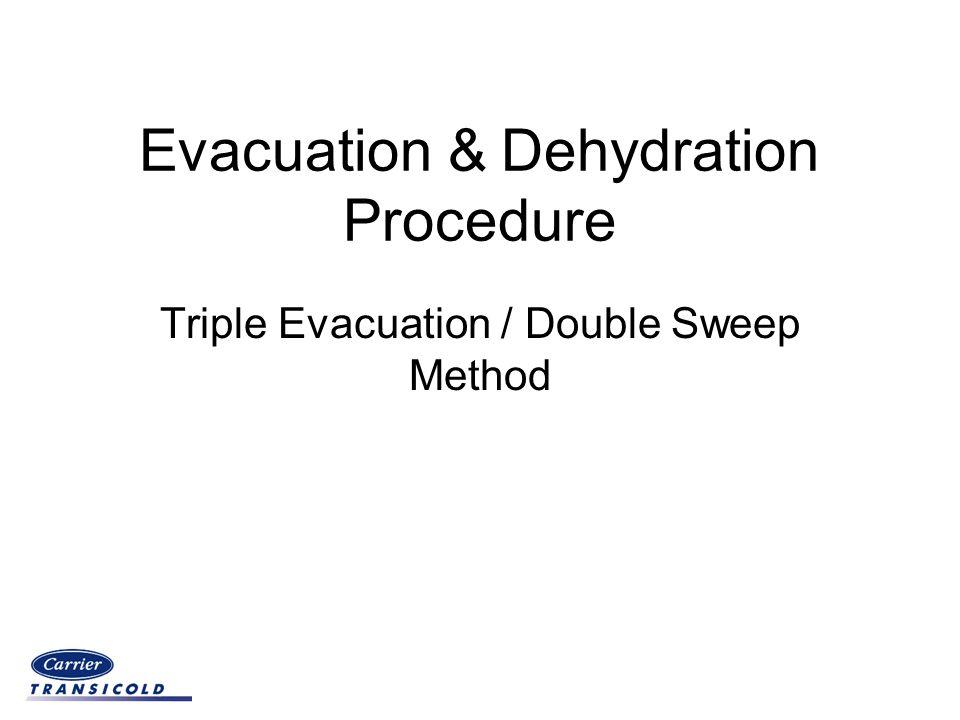 Evacuation & Dehydration Procedure Triple Evacuation / Double Sweep Method