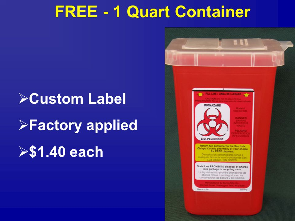 FREE - 1 Quart Container  Custom Label  Factory applied  $1.40 each