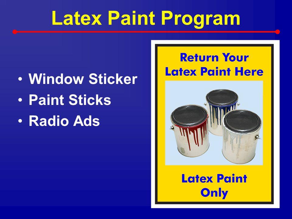 Latex Paint Program Window Sticker Paint Sticks Radio Ads