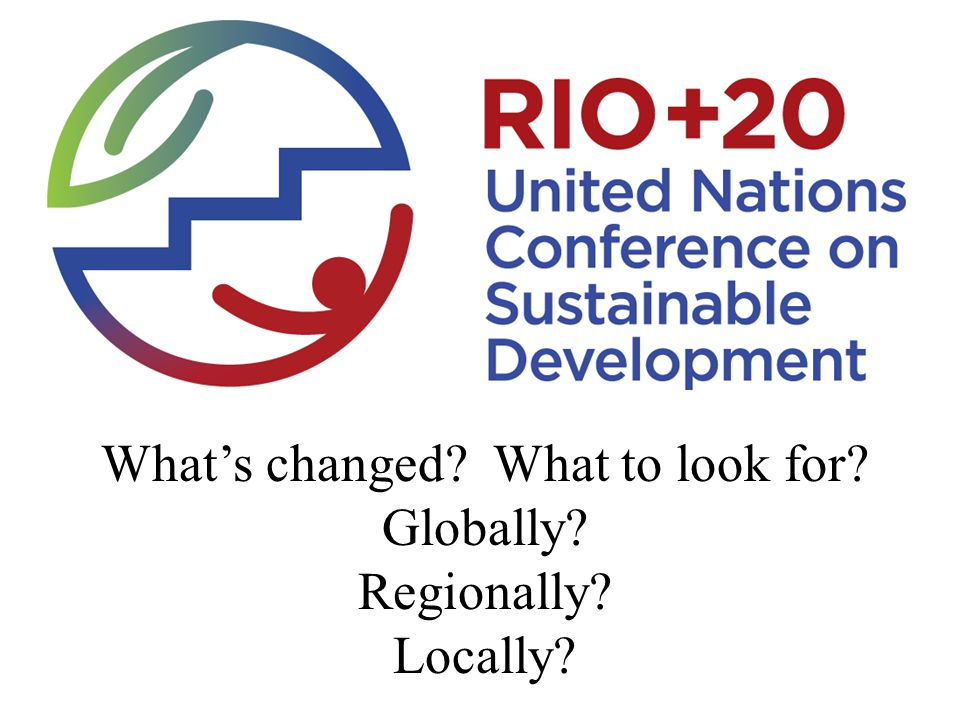 What's changed What to look for Globally Regionally Locally