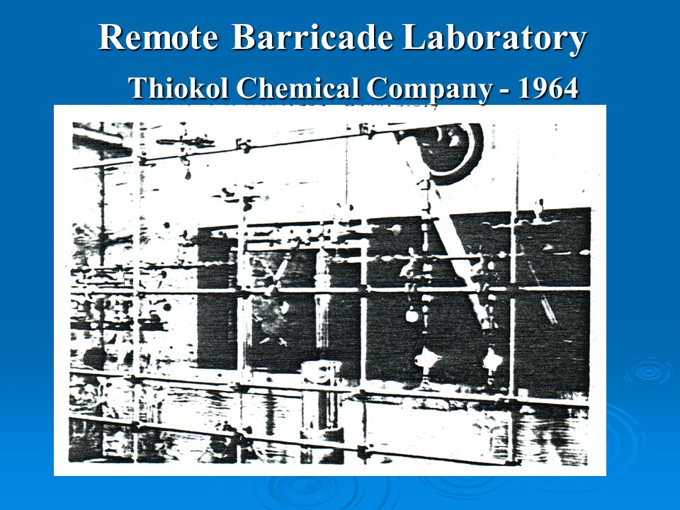 Remote Barricade Laboratory Thiokol Chemical Company - 1964