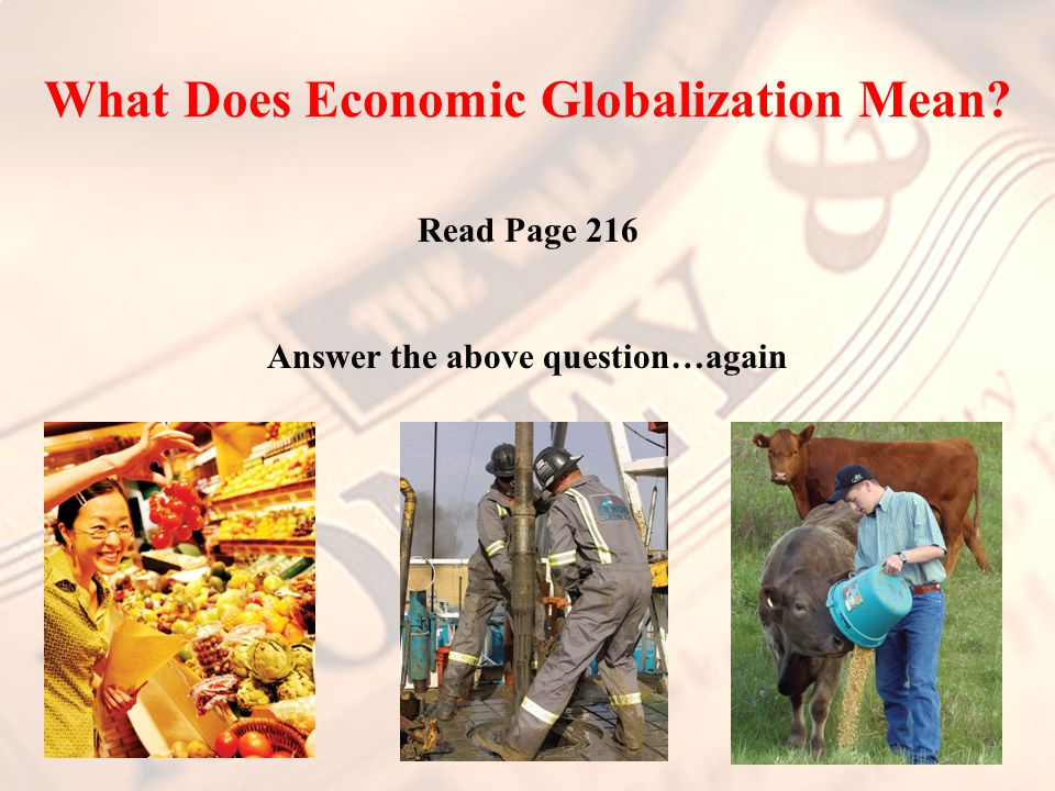 What Does Economic Globalization Mean.