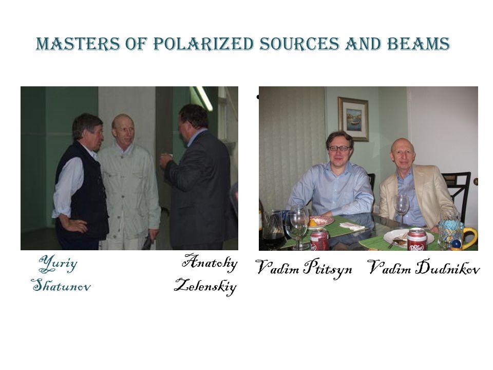 Masters of Polarized sources and beams Yuriy Anatoliy Shatunov Zelenskiy Vadim Ptitsyn Vadim Ptitsyn Vadim Ptitsyn Vadim Dudnikov