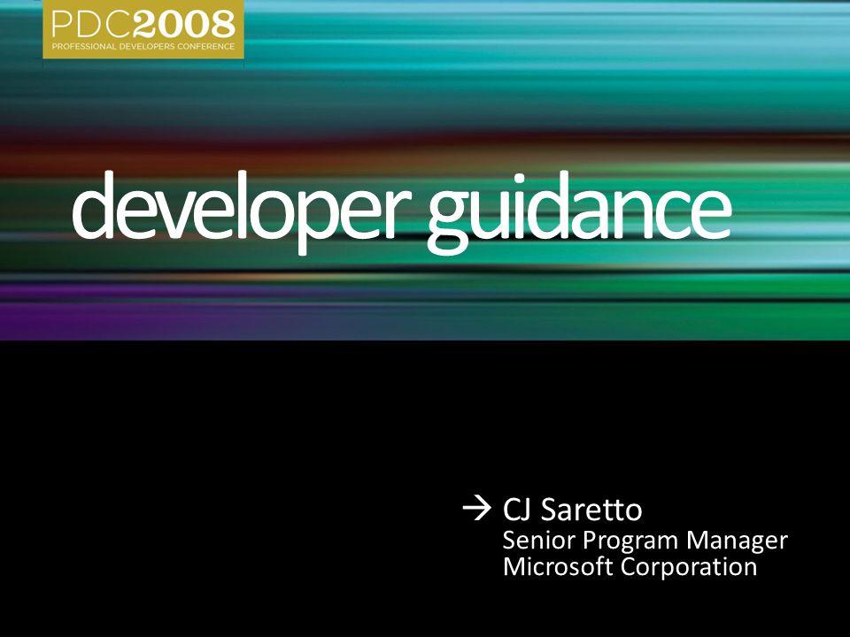  CJ Saretto Senior Program Manager Microsoft Corporation