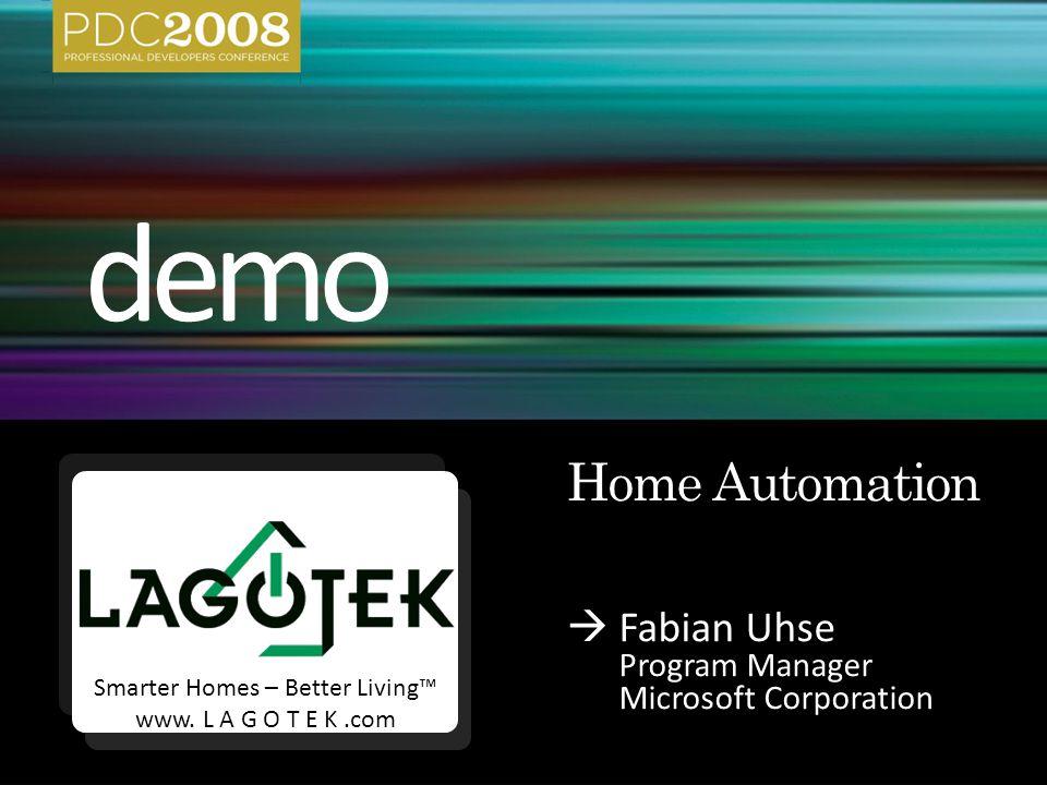  Fabian Uhse Program Manager Microsoft Corporation Smarter Homes – Better Living™ www.
