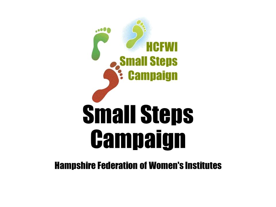 Small Steps Campaign Hampshire Federation of Women s Institutes