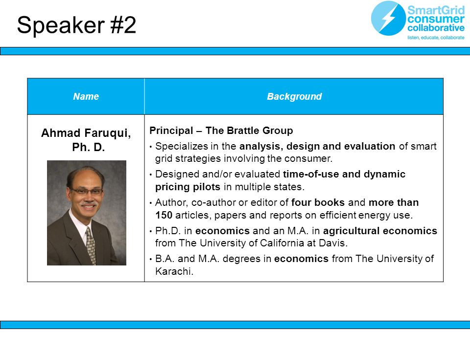NameBackground Ahmad Faruqui, Ph. D.