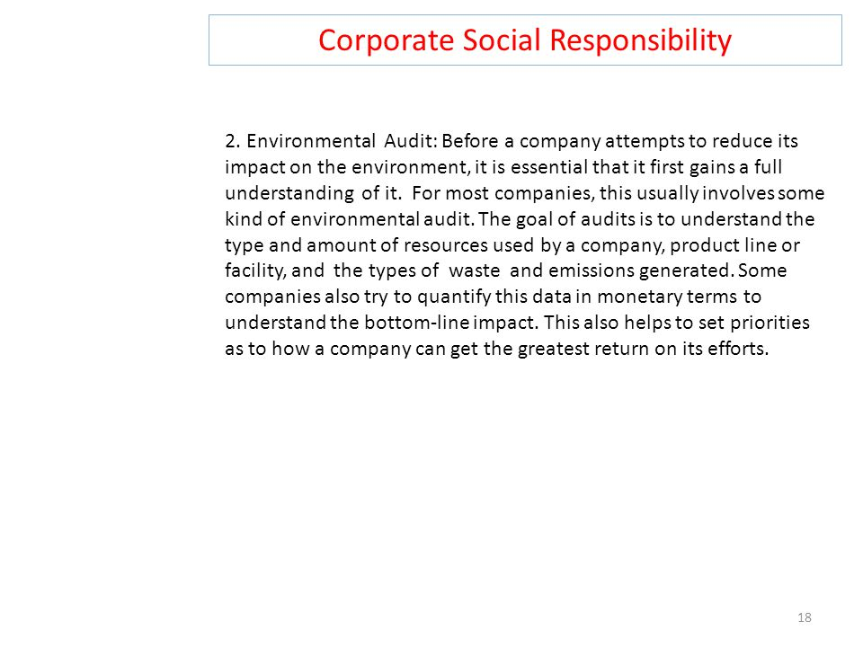 Corporate Social Responsibility 18 2.