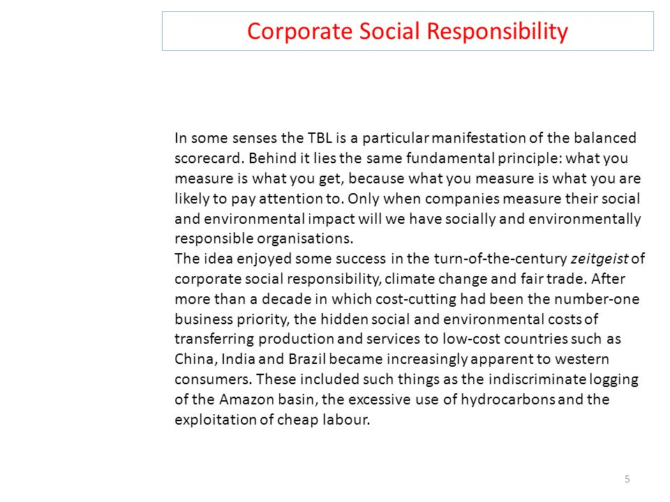 Corporate Social Responsibility 16 The implementation of CSR initiatives usually differs for each company, or even sector, depending on a number of factors, such as size and culture.
