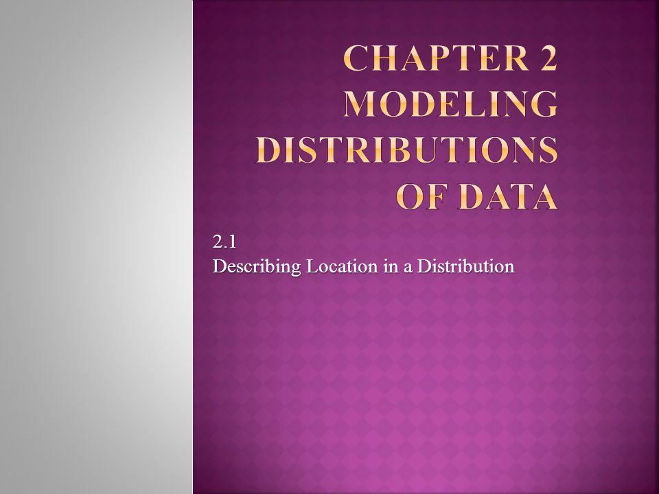 2.1 Describing Location in a Distribution