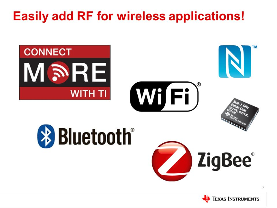 Easily add RF for wireless applications! 7
