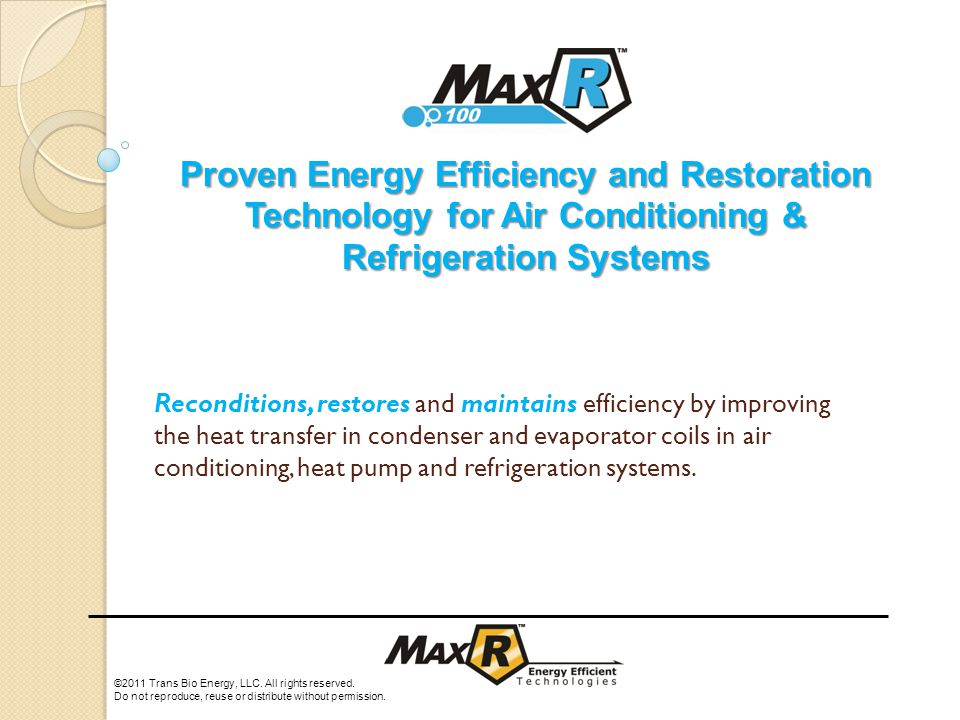 Reconditions, restores and maintains efficiency by improving the heat transfer in condenser and evaporator coils in air conditioning, heat pump and refrigeration systems.