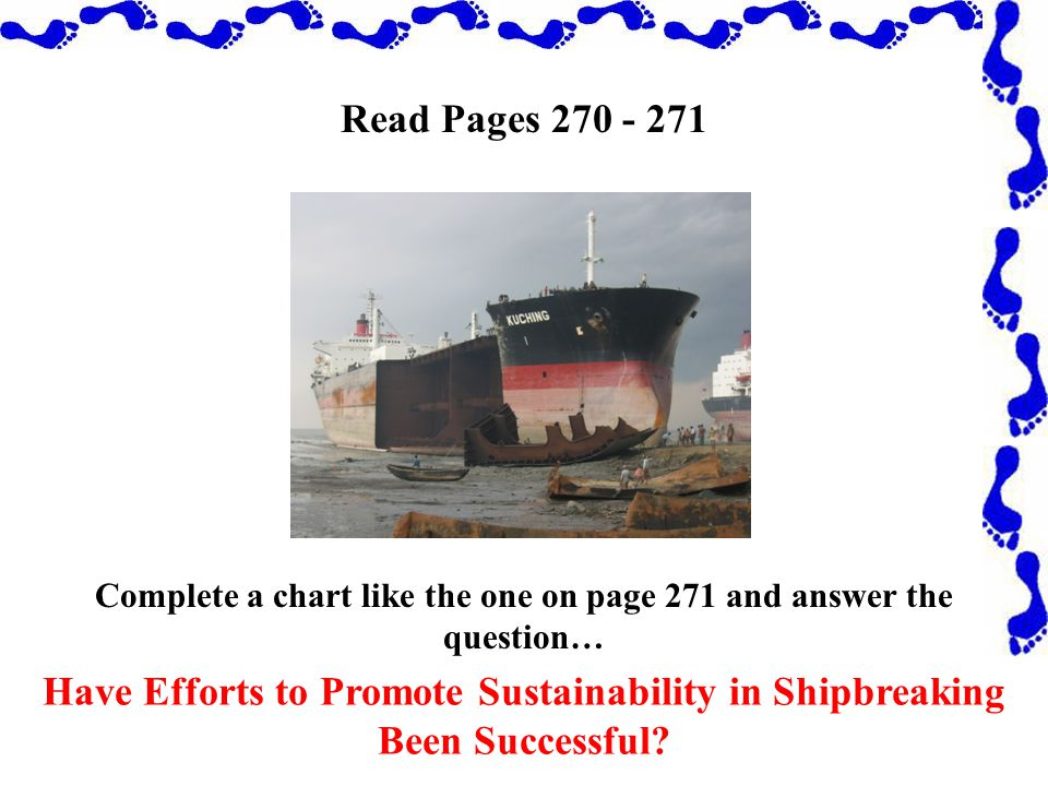 Read Pages 270 - 271 Have Efforts to Promote Sustainability in Shipbreaking Been Successful.