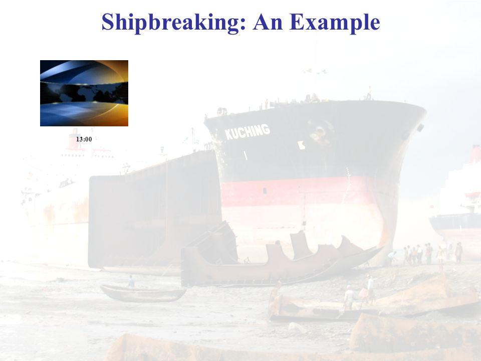 Shipbreaking: An Example 13:00