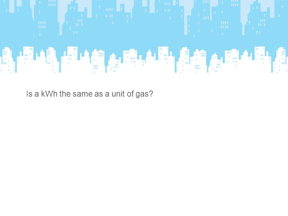 Is a kWh the same as a unit of gas