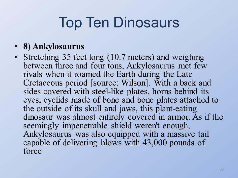 Top Ten Dinosaurs 21