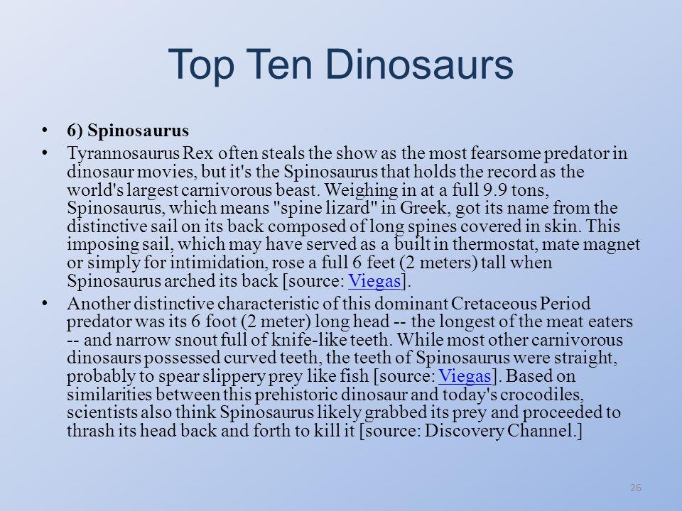 Top Ten Dinosaurs 25