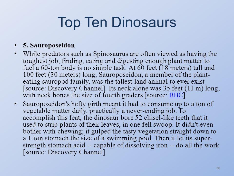 Top Ten Dinosaurs 27