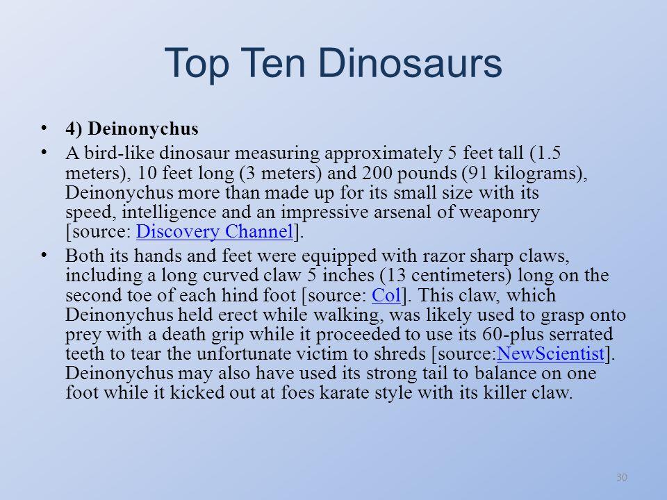 Top Ten Dinosaurs 29