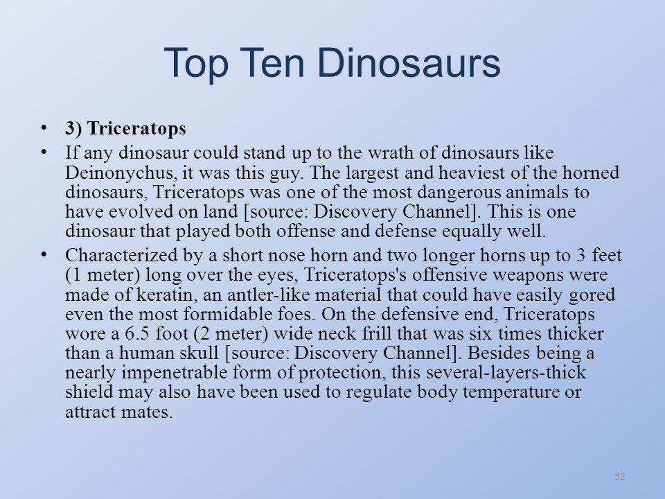 Top Ten Dinosaurs 31