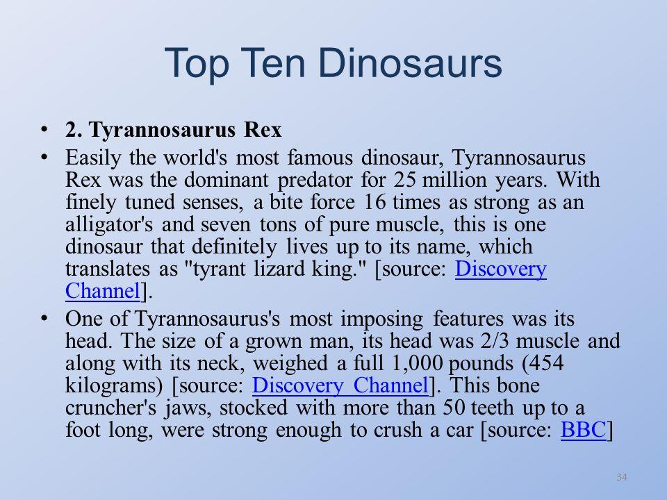 Top Ten Dinosaurs 33