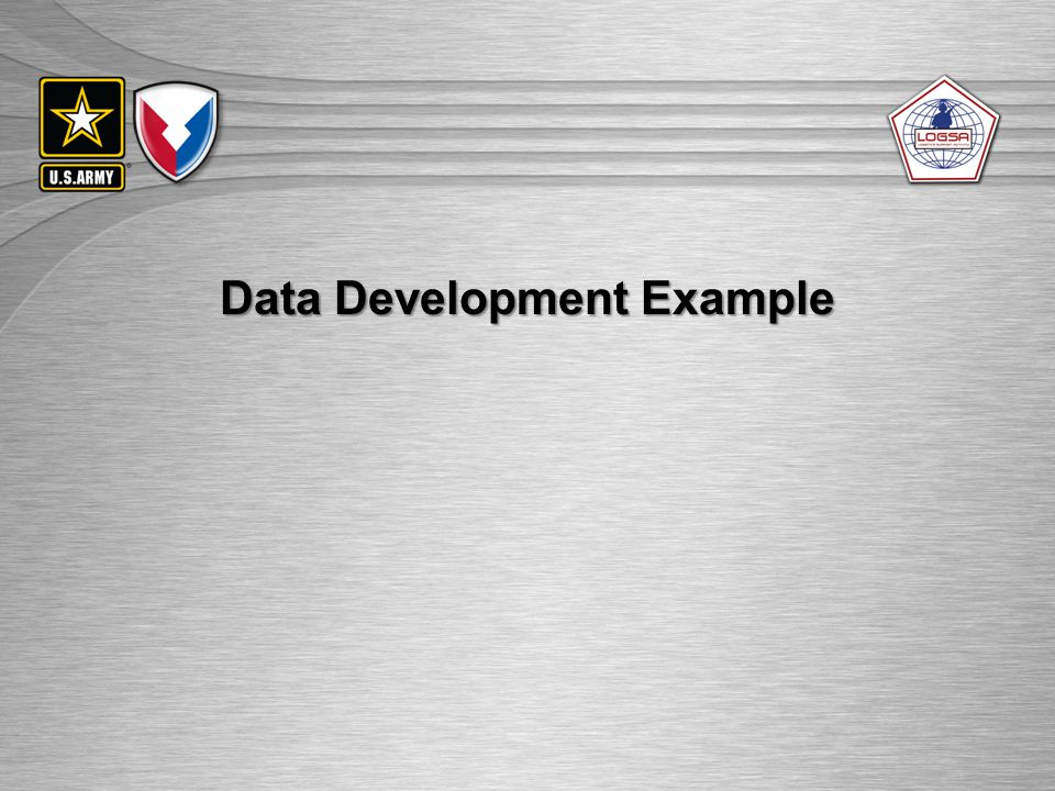 UNCLASSIFIED//FOUO Data Development Example