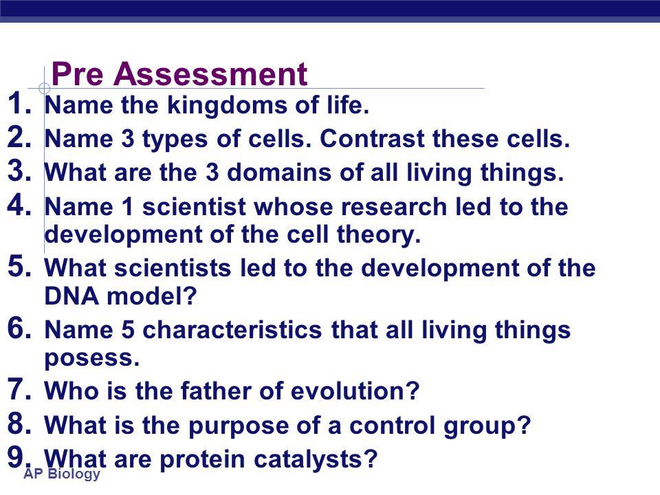 AP Biology AP Bio Study of Life Chapter 1 Themes
