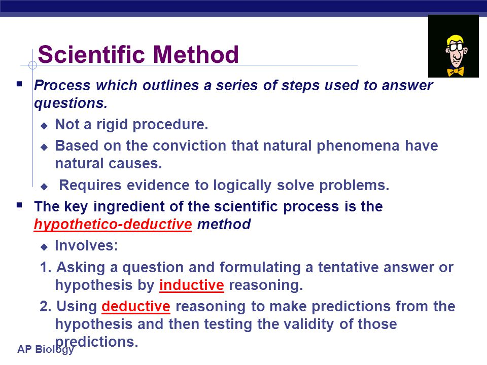 AP Biology Science as a process of inquiry  Built on repeatable observations & testable, falsifiable hypotheses