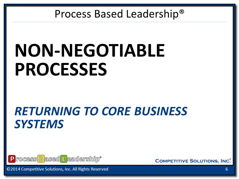 ©2014 Competitive Solutions, Inc. All Rights Reserved17 ACTION REGISTER Process Based Leadership®