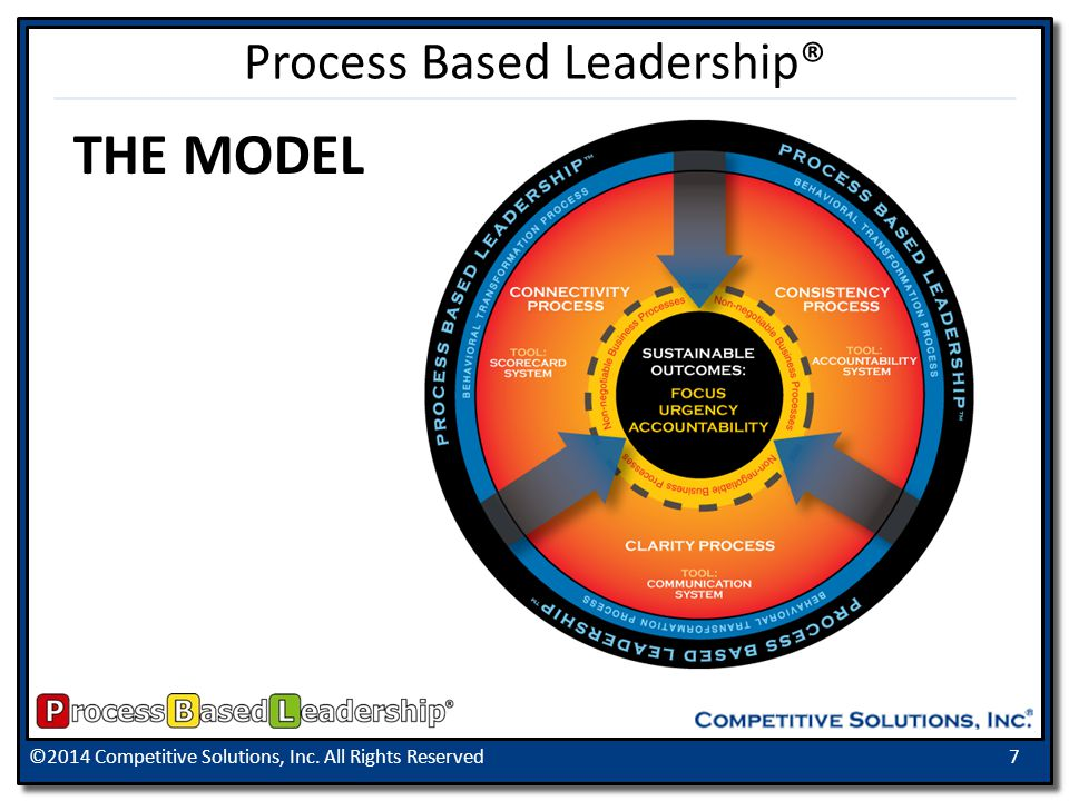 ©2014 Competitive Solutions, Inc. All Rights Reserved7 Process Based Leadership® THE MODEL