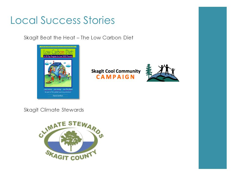 Local Success Stories Skagit Beat the Heat – The Low Carbon Diet Skagit Climate Stewards