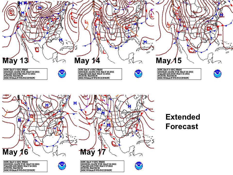 Extended Forecast May 13May 14May 15 May 16May 17