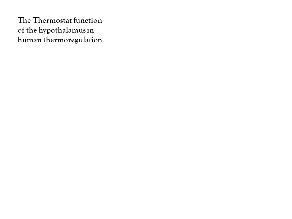 The Thermostat function of the hypothalamus in human thermoregulation
