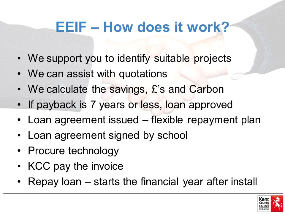 EEIF – How does it work.