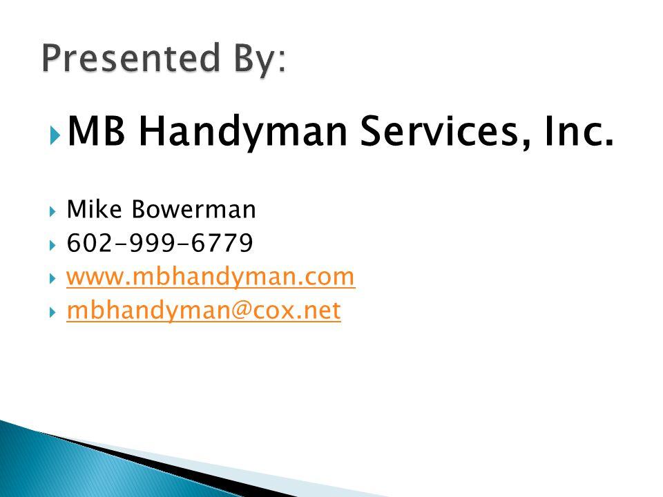  MB Handyman Services, Inc.