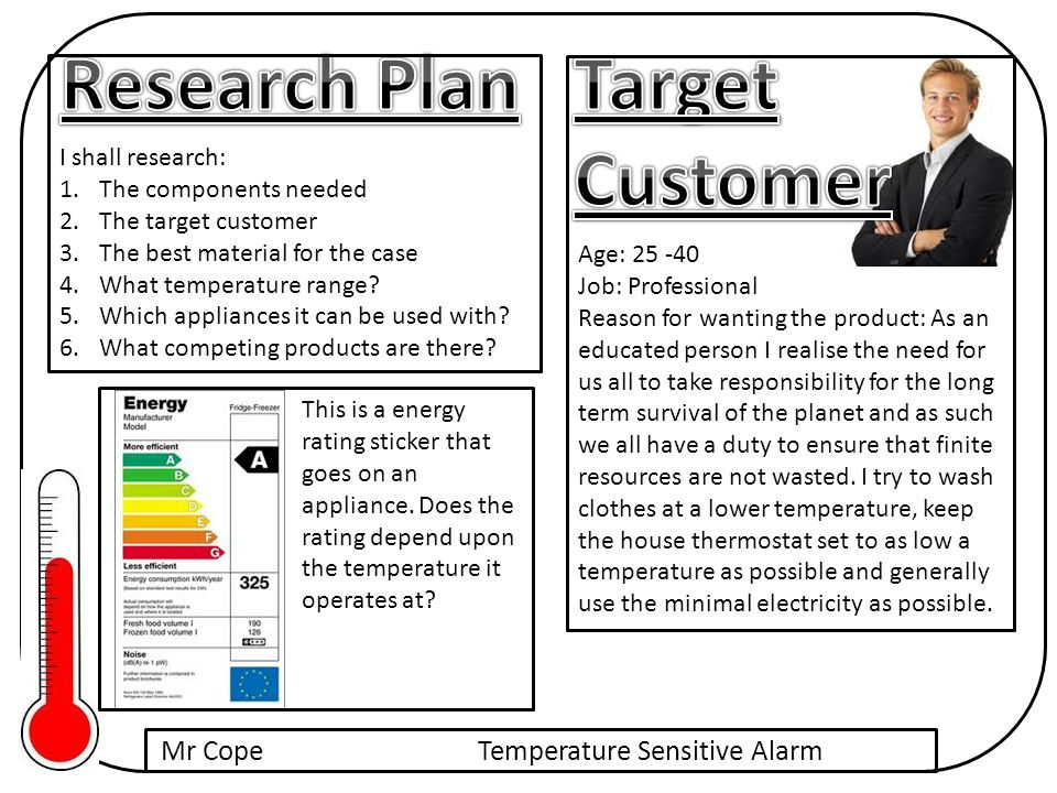 Mr CopeTemperature Sensitive Alarm