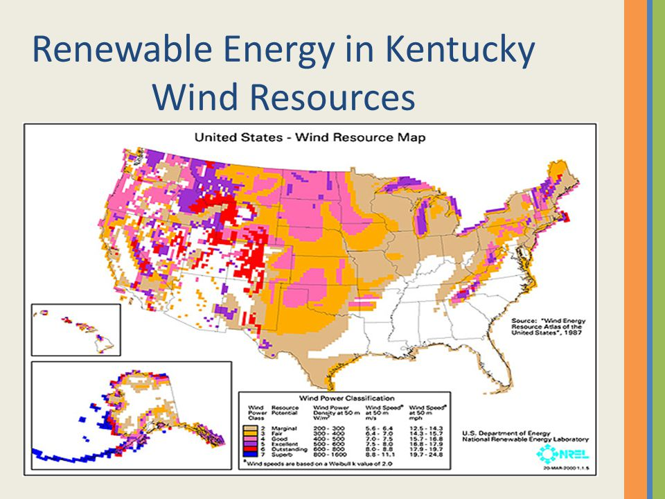 Renewable Energy in Kentucky Wind Resources