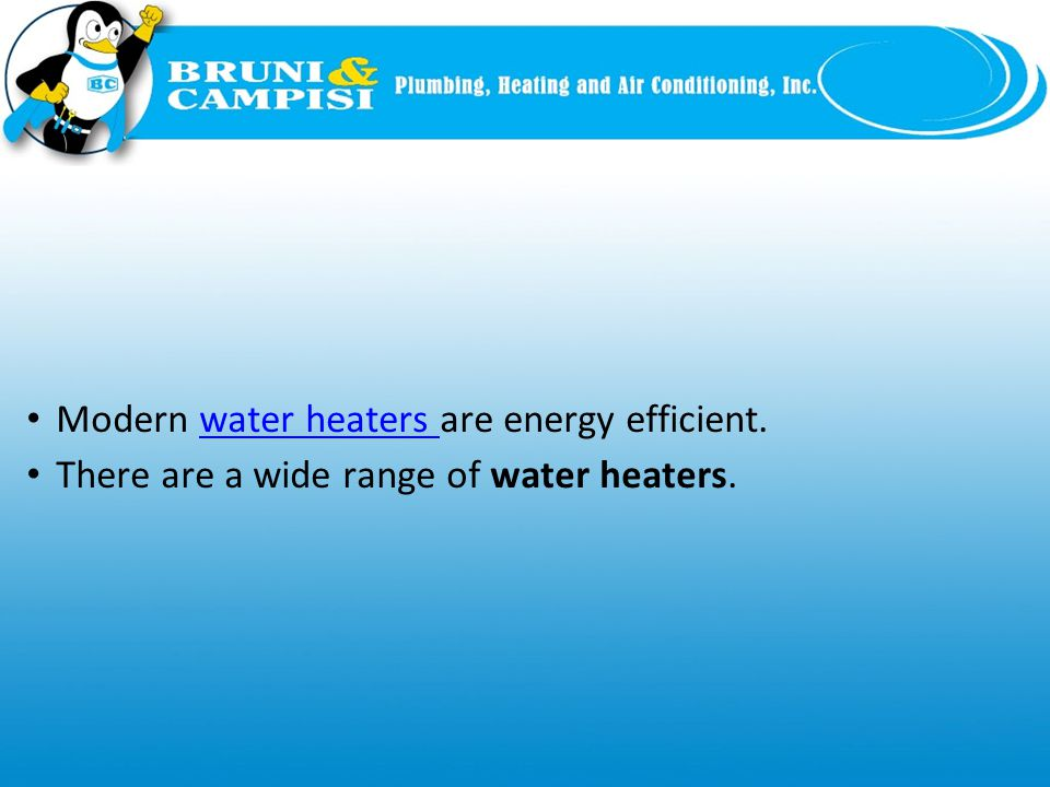 Common Types of Water Heaters