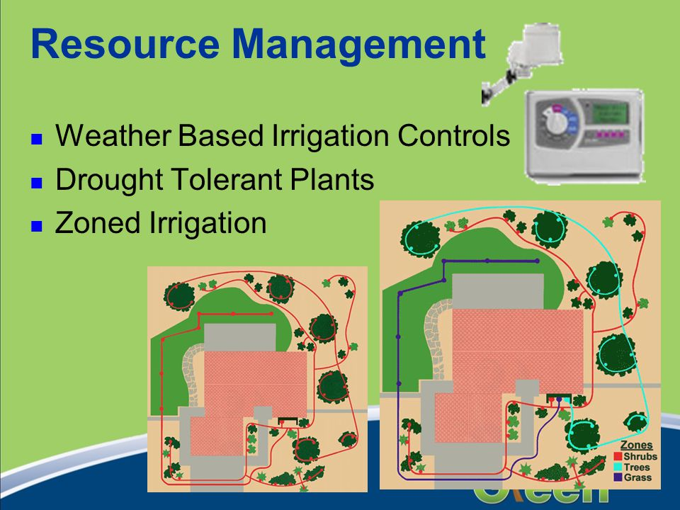 Resource Management Weather Based Irrigation Controls Drought Tolerant Plants Zoned Irrigation