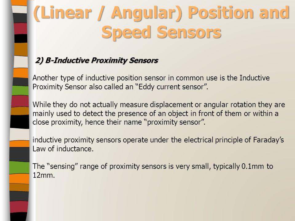(Linear / Angular) Position and Speed Sensors 2) B-Inductive Proximity Sensors 2) B-Inductive Proximity Sensors Another type of inductive position sen