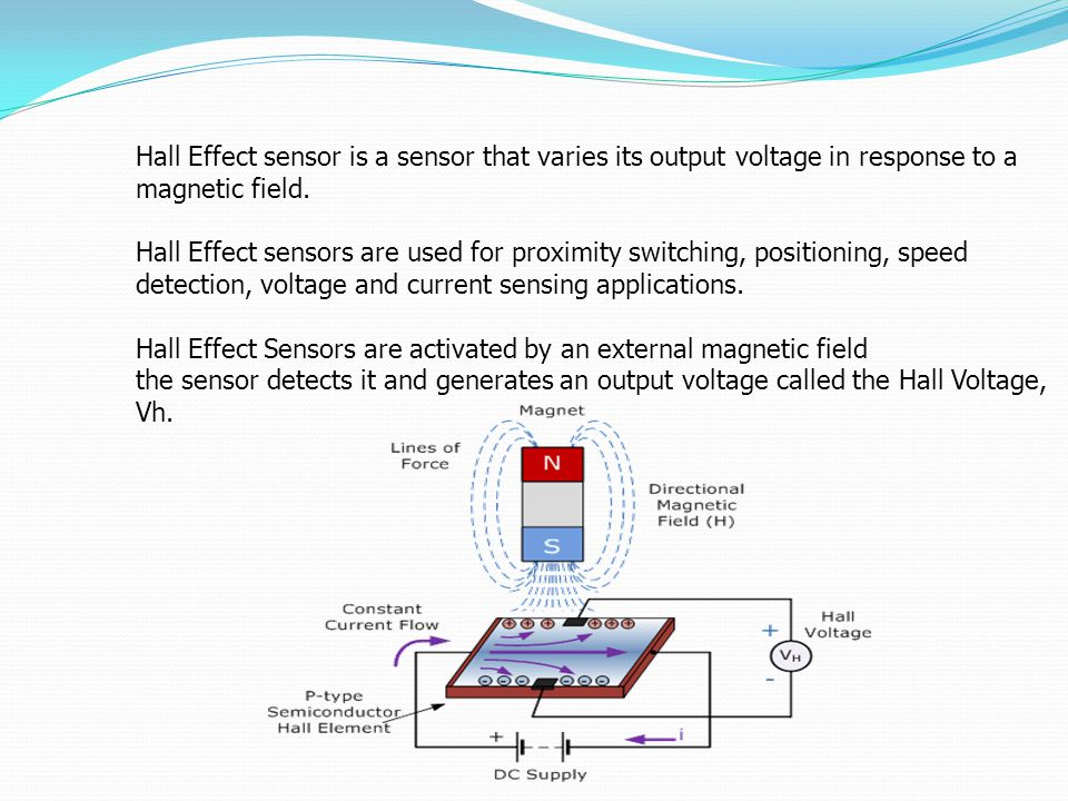 Hall Effect sensor is a sensor that varies its output voltage in response to a magnetic field. Hall Effect sensors are used for proximity switching, p
