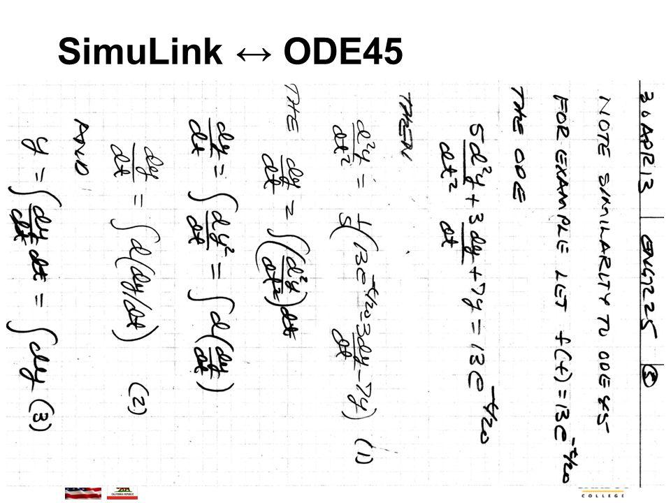 BMayer@ChabotCollege.edu ENGR-25_Lec-25_SimuLink-1.ppt 58 Bruce Mayer, PE Engineering/Math/Physics 25: Computational Methods SimuLink ↔ ODE45