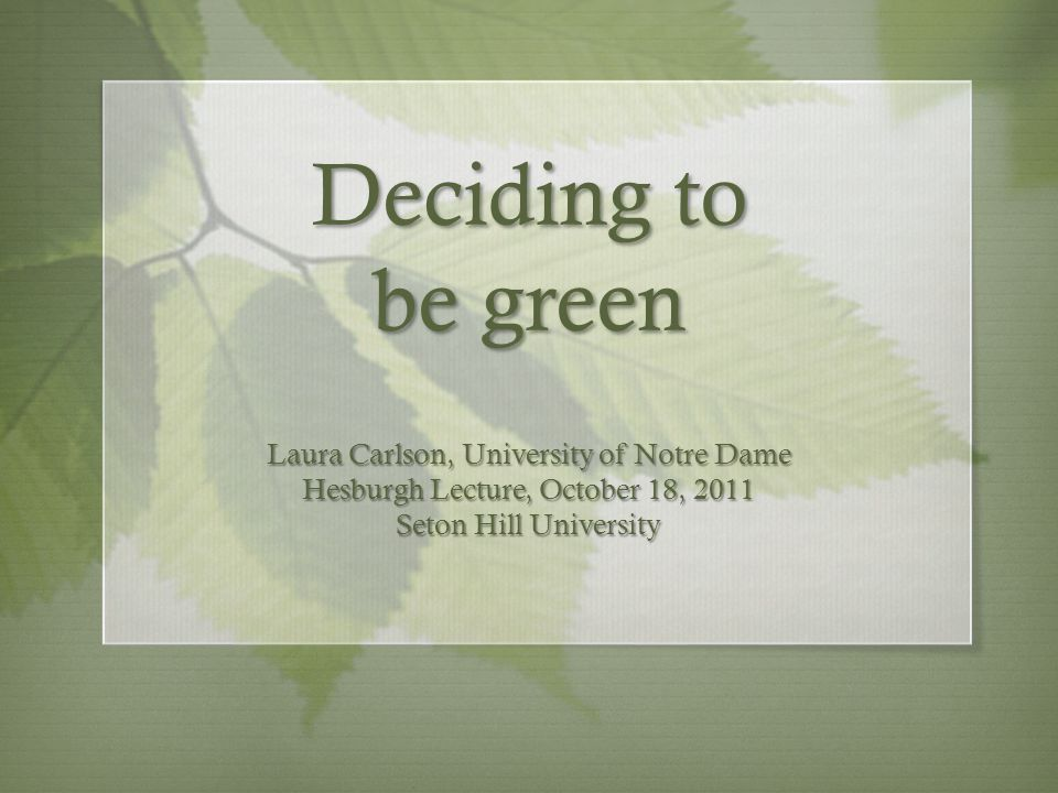 Green initiatives at Notre Dame