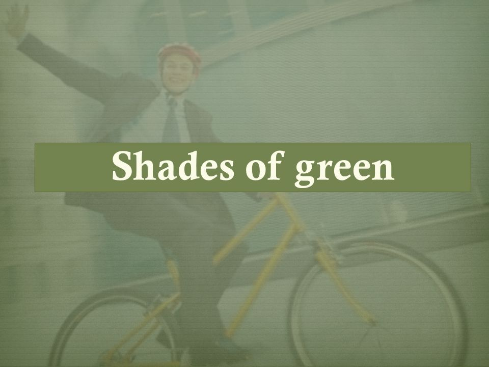 Deciding to be green or greener Deciding