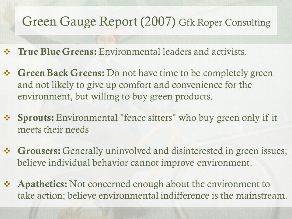 Green Gauge Report (2007) Gfk Roper Consulting