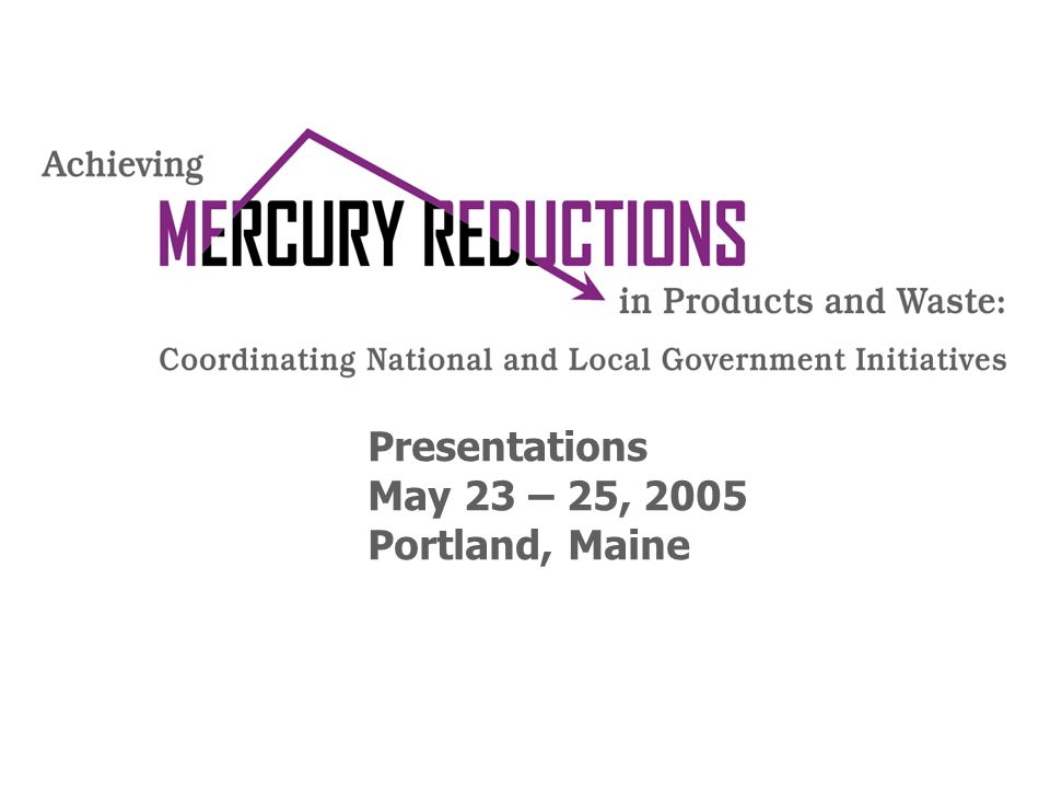 Presentations May 23 – 25, 2005 Portland, Maine